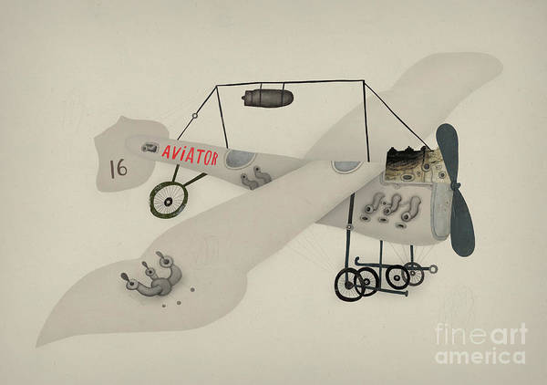 Wall Art - Digital Art - Symbolic Image Of A Sport Airplane by Dmitriip