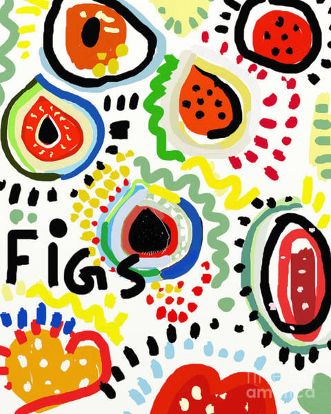 Organic Wall Art - Digital Art - Symbolic Image Of Fig Fruits by Dmitriip