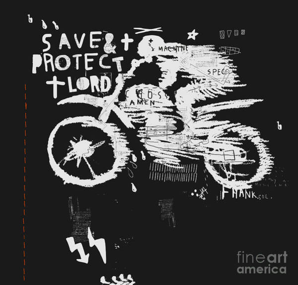 Biker Wall Art - Digital Art - Symbolic Image Of The Bike For Motocross by Dmitriip