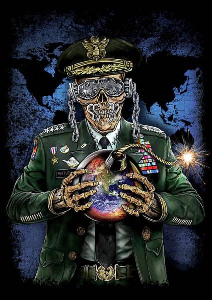 Megadeth Wall Art - Digital Art - Symphony Of Destruction World Map by Mike Hrubovcak