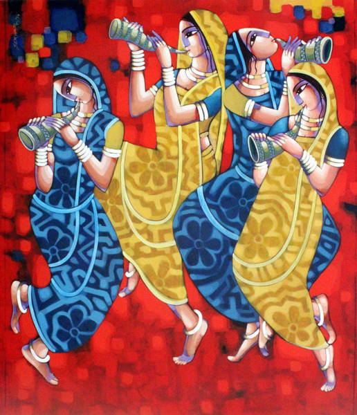 Painting - Symphony Of Happiness by Sekhar Roy