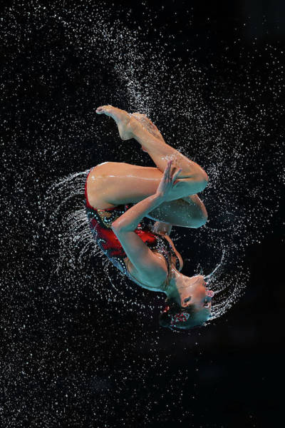 Spain Photograph - Synchronized Swimming - 15th Fina World by Quinn Rooney