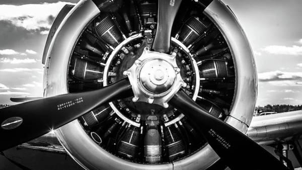 Photograph - T-28b Trojan Close-up In Bw by Doug Camara