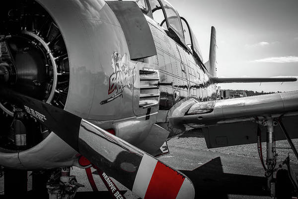 Photograph - T-28b Trojan In Selective Color by Doug Camara