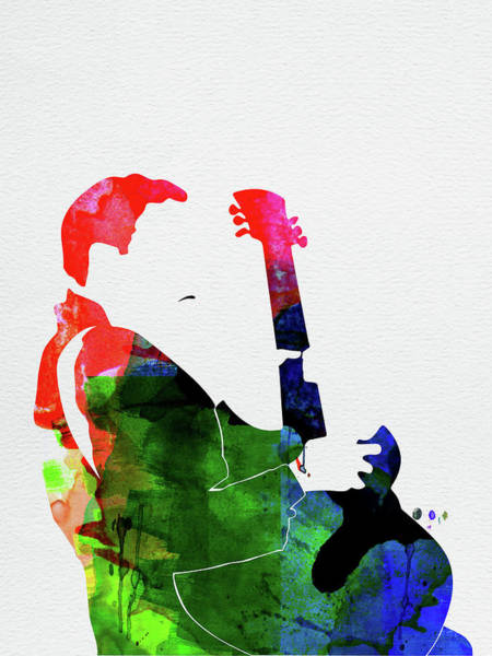 Rap Mixed Media - T-bone Walker Watercolor by Naxart Studio