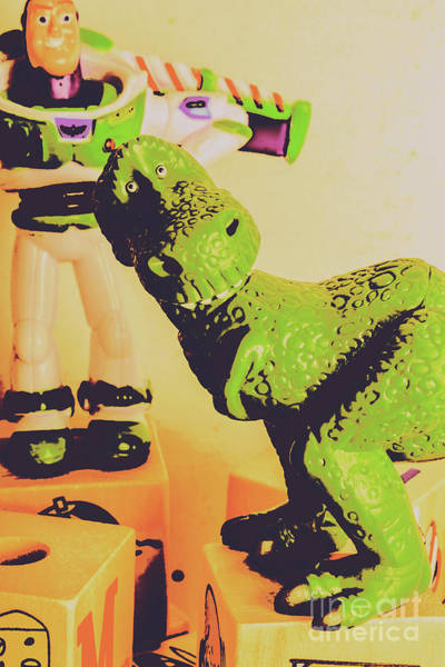Film Still Photograph - T-rex Toy by Jorgo Photography - Wall Art Gallery