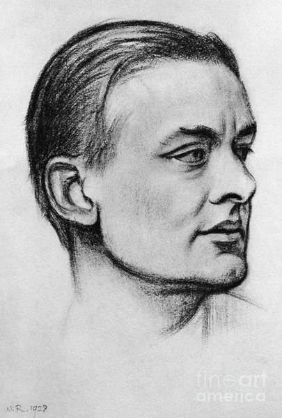 Early American History Drawing - T S Eliot 1928 by William Rothenstein