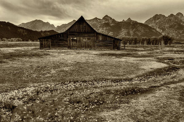 Photograph - T.a. Moulton Barn In Sepia by Mark Kiver