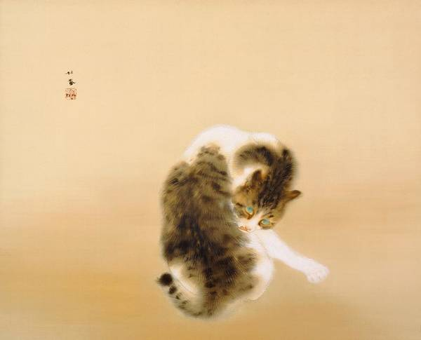 Wall Art - Painting - Tabby Cat - Digital Remastered Edition by Takeuchi Seiho