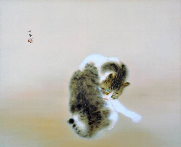 Wall Art - Painting - Tabby Cat - Original Color Edition by Takeuchi Seiho