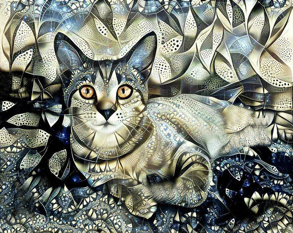 Photograph - Tabby Cat Portrait - Prada by Peggy Collins