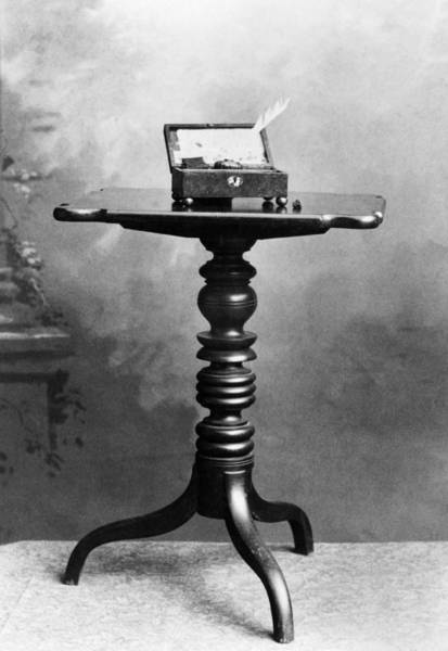 Wall Art - Photograph - Table And Inkstand, 1833 by Granger