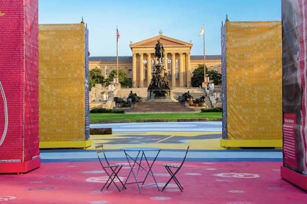 Wall Art - Photograph - Table For Two - Philadelphia Art Museum by Bill Cannon