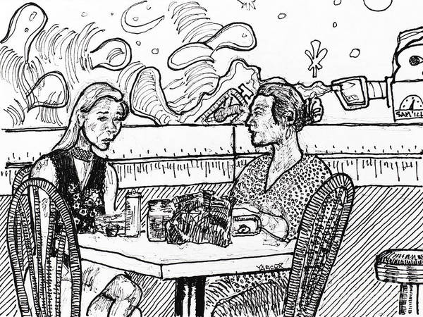 Wall Art - Drawing - Table For Two by Robert Yaeger