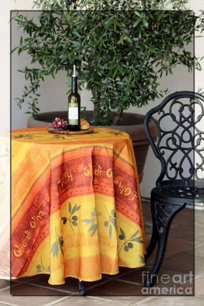 Photograph - Table In Front Of Cafe In La Quinta California by Colleen Cornelius