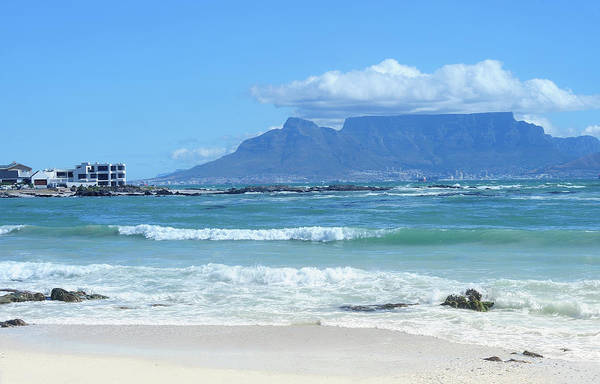 Coastline Photograph - Table Mountain Cape Town by John Snelling