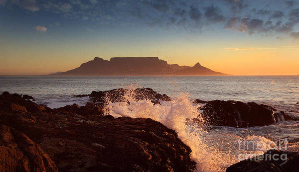 Wall Art - Photograph - Table Mountain With Clouds, Cape Town by Dietmar Temps