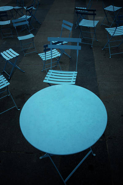Quebec City Photograph - Tables And Chairs At A Cafe, Old by Panoramic Images