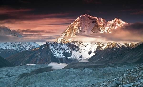 Nepal Wall Art - Photograph - Taboche Peak And Cholatse Everest by Anton Jankovoy