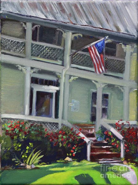 Painting - Tabor House - Historical Home Of Ellijay by Jan Dappen