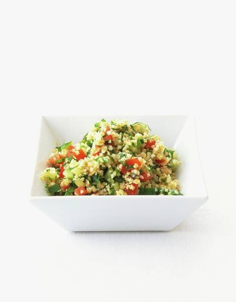 Wall Art - Photograph - Tabouleh, Served In Square, White by Sian Irvine