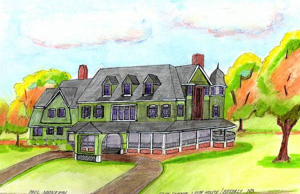 Wall Art - Drawing - Taft Summer House by Paul Meinerth
