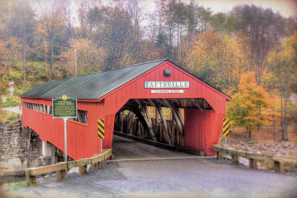 Photograph - Taftsville Covered Bridge Vermont by Joann Vitali