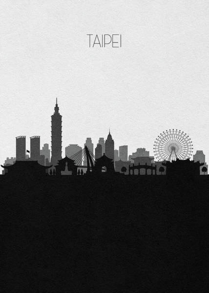 101 Digital Art - Taipei Cityscape Art by Inspirowl Design