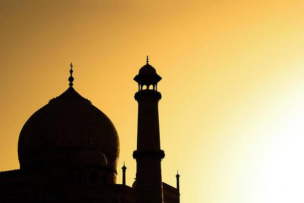 Photograph - Taj Mahal At Sunset by Kokkai Ng
