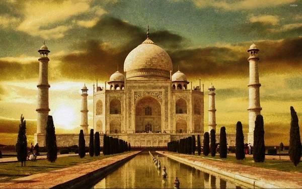 Digital Art - Taj Mahal In The Morning by Mario Carini