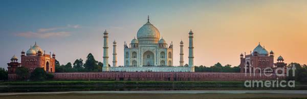 Photograph - Taj Mahal Panorama by Inge Johnsson