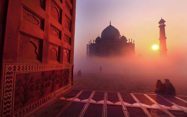 Fog Photograph - Taj Mahal by Photo By Prasit Chansareekorn
