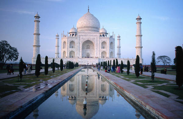 Photograph - Taj Mahal Reflected In Watercourse by Paolo Cordelli