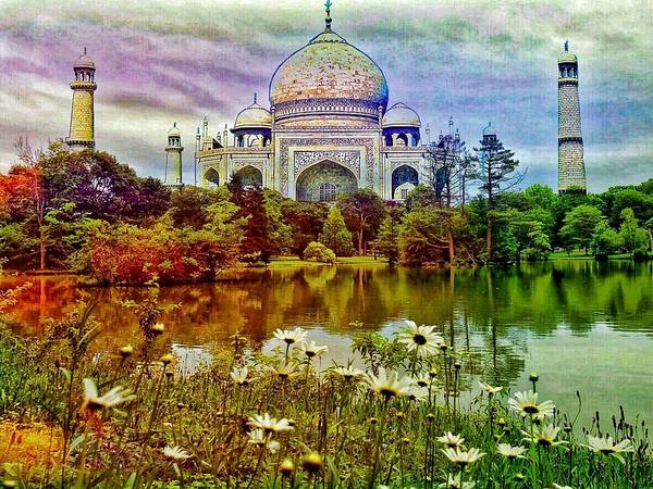 Digital Art - Tajmahal Through My View by AE collections