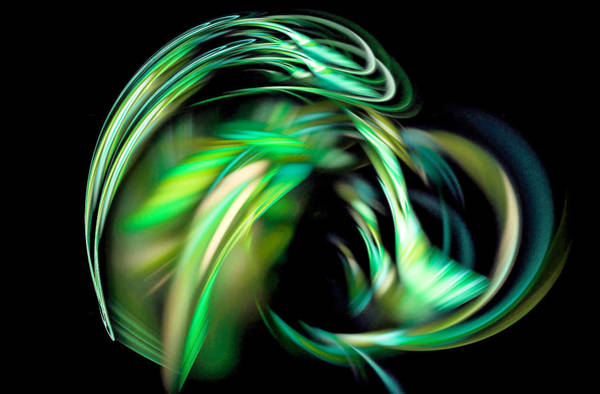 Digital Art - Take Me Beyond Fractal Art Green by Don Northup