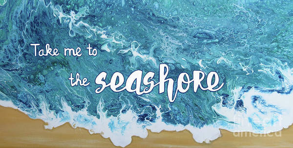 Holly Brannan Wall Art - Painting - Take Me To The Seashore by Holly Bartlett Brannan