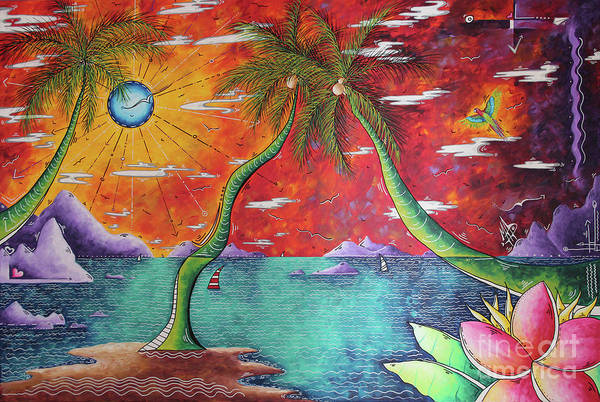 Wall Art - Painting - Take Me To The Tropics Tropical Surrealism Mad Wonderland By Megan Duncanson by Megan Duncanson