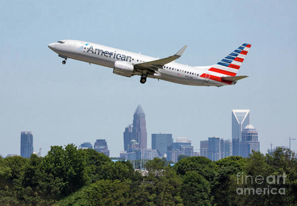 Photograph - Take Off From Charlotte by Kevin McCarthy