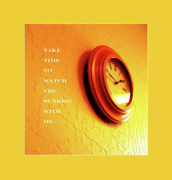 Wall Art - Mixed Media - Take Time by Mary Ellen Frazee