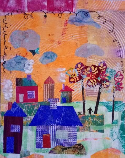 Wall Art - Mixed Media - Taking A Morning Walk by ILona Halderman