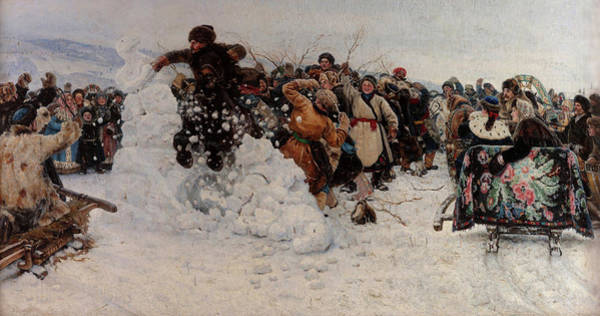Wall Art - Painting - Taking A Snow Town, 1891 by Vasily Surikov