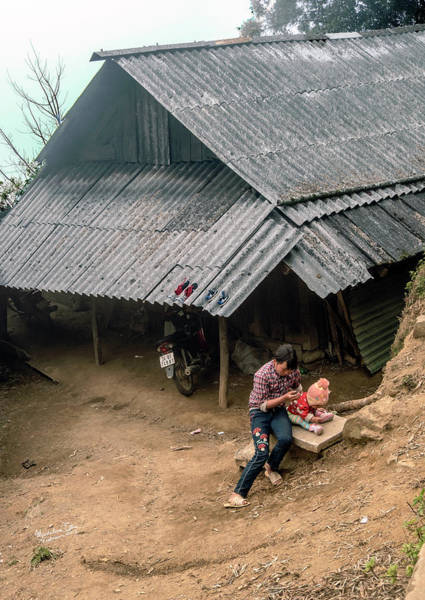 Wall Art - Photograph - Taking Care Of Baby In Sapa, Vietnam by Madeline Ellis