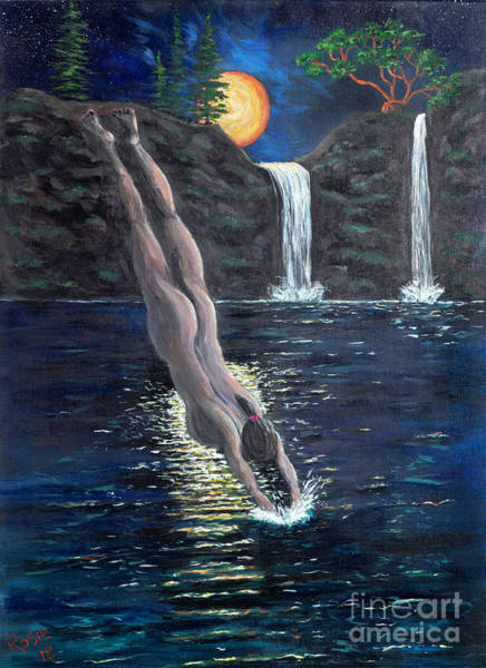 Wall Art - Painting - Taking The Plunge by Rosie Kuhn