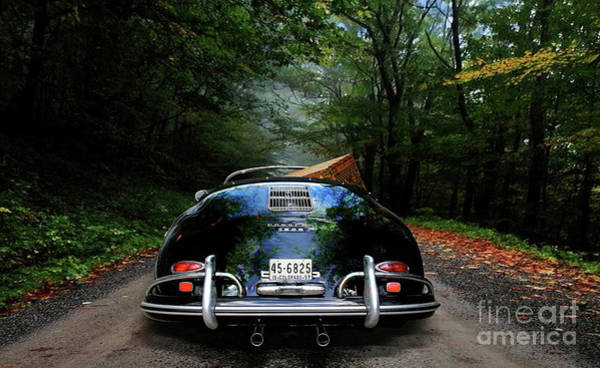 St Louis Cardinals Mixed Media - 'taking The Scenic Road Way To Get Home.' 1958 Porsche 356a, 1600 Speedster by Thomas Pollart