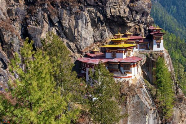 Buddhist Temple Wall Art - Photograph - Taktsang Monastery  by Fabrizio Troiani