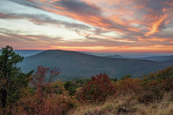 Photograph - Talimena Sunset - Oklahoma Mountain Landscape by Gregory Ballos