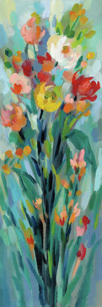 Wall Art - Painting - Tall Bright Flowers I by Silvia Vassileva