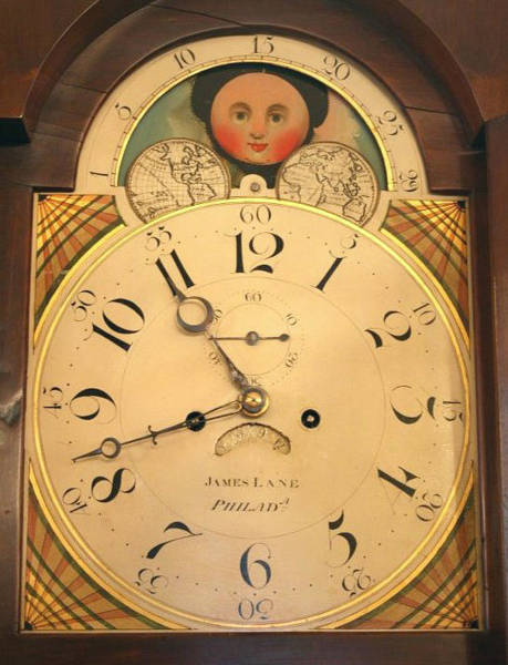 Tall Case Clock Face, Around 1816 Art Print