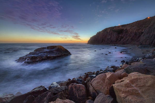 Photograph - Tall Cliffs Of Dana Point After Sunset by Andy Konieczny