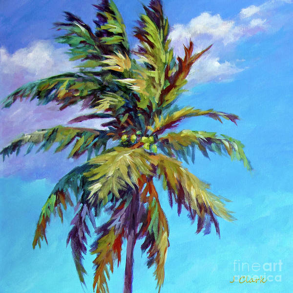 Wall Art - Painting - Tall Palm Square by John Clark